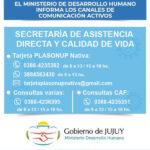 Canales de comunicación activos del ministerio de desarrollo humano