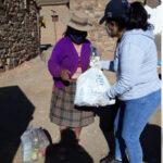 Entrega de Unidades Alimentarias y kits de limpieza en Cusi Cusi