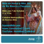 Honras a la Virgen de Río Blanco y Paypaya en la Catedral de Buenos Aires