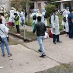 Rastrillaje sanitario en la zona de Villa Jardín de Reyes