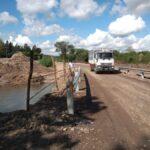 Paso provisorio; próximo nuevo puente. Tránsito en Ruta 61, restablecido en obras de Manantiales